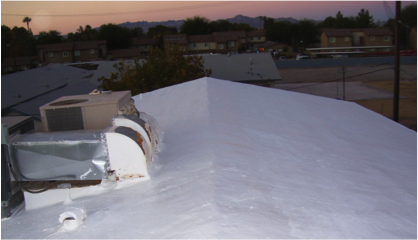 Foam Roof After SureCoat Installation