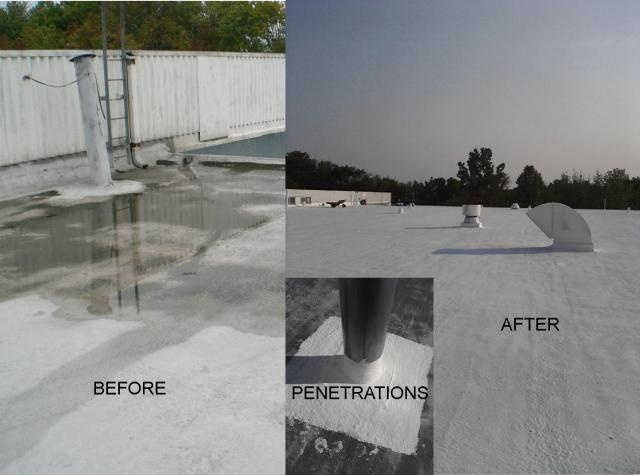 flat foam roof restoration